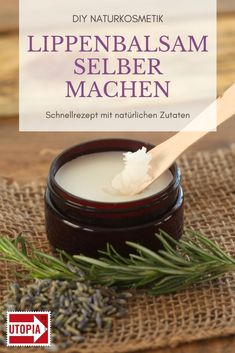Pflegenden Lippenbalsam aus nur drei Zutaten selber machen Make lip balm yourself: quick recipe with natural ingredients. Homemade lip balm is an ecological alternative to products from the drugstore. Pelo Natural, Natural Lips, Delaware, Lime Crime Lipstick, Homemade Lip Balm, Rides Front, Diy Hair Care, Hand Care, Hand Lotion
