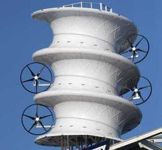 The four mounted turbines are generating more than 4.5 times as much energy than if the turbines were standing alone, according to data collected by Cleveland State University.