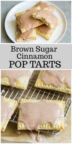 Brown Sugar- Cinnamon Pop Tarts - - Here's a homemade pop tarts recipe - the best pop tart recipe out there! This is the brown sugar cinnamon pop tarts variety. Cinnamon Pop Tart, Brown Sugar Cinnamon Poptarts, Brunch Recipes, Dessert Recipes, Pop Tart Recipes, Healthy Pop Tart Recipe, Breakfast Recipes, Easy Breakfast Ideas, Desert Recipes