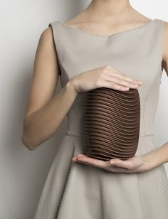 Check this out on leManoosh.com: #Bag #bronze #Brown #Copper #Fashion #Organic #Parametric #Plastic