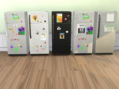In the sprit of the new GP Parenthood! Here are 5 swatches of fridges with a lived in look. Some have letter magnets and children's artwork, others are strictly business with calendars and...