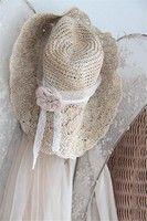 Chapeau crochet romantique et shabby chic