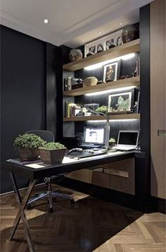 170 beautiful home-office design ideas www. 170 Beautiful Home Of . - 170 beautiful home office design ideas www.futuristarchi … 170 Beautiful Home Office Design Ideas - Mesa Home Office, Modern Home Office Furniture, Home Office Space, Home Office Desks, Contemporary Furniture, Small Home Offices, Home Office Lighting, Task Lighting, Bedroom Ideas For Men Modern