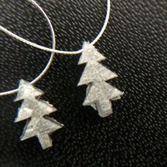 1 Pc 7.2mm Grey Rough Diamond Christmas Tree Grey by gemsforjewels
