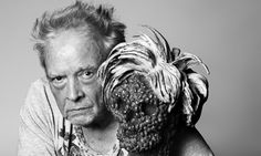 self-portrait of David Bailey with his sculpture Dead Andy Photograph: David Bailey