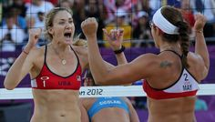 Kerri Walsh Jennings (left) and Misty May-Treanor will defend their 2004 and 2008 gold medals. (AP) -     Death, taxes, and the American beach volleyball team of Misty May-Treanor and Kerri Walsh Jennings.