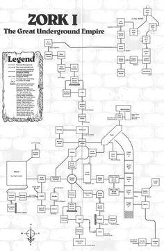 Zork I map