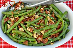 Peace, Love, and Low Carb: Cashew Green Beans with Bacon