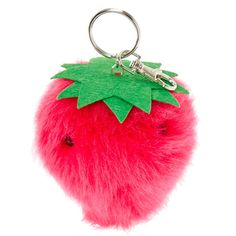 Strawberry Pom Pom Scented Key Ring | @giftryapp