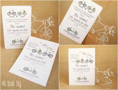 Invitacion de boda con bicis / bicycle wedding invitation