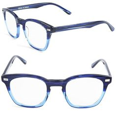 Corinne Mccormack Annie 46mm Reading Glasses ($62) ❤ liked on Polyvore featuring accessories, eyewear, eyeglasses, navy blue, reading glasses, reading eye glasses, corinne mccormack glasses, acetate glasses and lens glasses