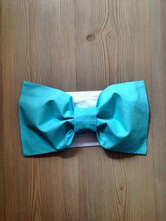 Aqua Blue Cotton Bow Bandeau Top Spandex Bandeau Women by SWANTREE
