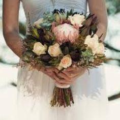 Bouquet full of Australian native flowers Polka Dot Wedding, Floral Wedding, Wedding Vintage, Vintage Weddings, Boho Wedding, Bridal Flowers, Flower Bouquet Wedding, Protea Bouquet, Bouquet Flowers