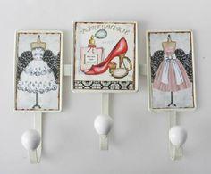Shoe & Dress hooks Decoupage Box, Antiques, Frame, Diy, Academia, Hooks, Google, Home Decor, Shoe