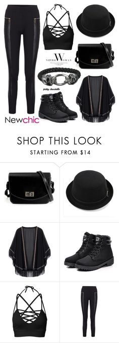 """""""NewChic - Fall Street Style: 14/10/16"""" by pinky-chocolatte ❤ liked on Polyvore"""