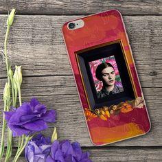 """""""Viva la vida"""".  Funda para celular con retrato de Frida Kahlo"""