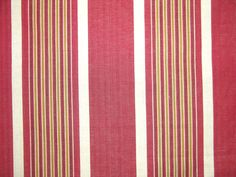 Palm Avenue in Red from Old World Weavers/Stark #fabric #stripe #tan #red