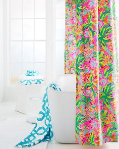 Add A Colorful Pop To Your Bathroom With Our Lilly Pulitzer Sister Florals  Shower Curtain In
