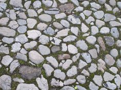 Pebbled piazza in Sulmona.