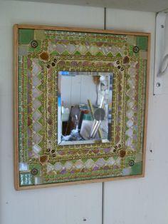 Mosaic Mirror Frame by TheGlassGardenShop on Etsy, $95.00