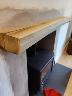 Chunky oak beam finished with Danish oil