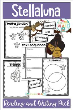 Stellaluna is a story about a young bat that finally makes their way back home after trying to fit in with a bird family. These tasks will explore reading the text and inspire your students to write about Stellaluna. Reading Comprehension Strategies, Writing Strategies, Reading Resources, Sight Word Activities, Teaching Activities, Classroom Activities, Stellaluna, Literacy Stations, Australian Curriculum
