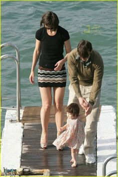 Tom Cruise Cradles Baby Suri: Photo Tom Cruise holds onto baby Suri close in his arms while relaxing on the beach with friends at St. Jean Cap Ferrat in France. Inset: The father-daughter… Katie Holmes, Tom Cruise, Tv Actors, Actors & Actresses, 14 Month Old Baby, Ohio, Beach Friends, Cruise Outfits, Family Cruise
