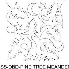 Pine Tree Meander Free Machine Quilting Pattern
