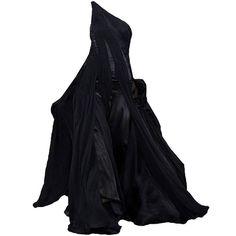 RalphLauren-editedbyelfemme found on Polyvore featuring dresses, gowns, long dresses, vestidos, kohl dresses, long black evening dresses, black gown and black dress