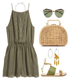 """""""Afternoon Picnic"""" by silhouetteoflight ❤ liked on Polyvore featuring H&M, Sylvio Giardina, Steve Madden, Kayu, Karen Walker and Lucky Brand"""