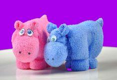 Nijlpaarden van washandjes