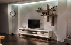 Tv-meubel – Mobilya – Welcome The uniteTv Tv Unit Furniture Design, Tv Unit Design, Tv Furniture, Living Room Tv Unit, Home Living Room, Living Room Designs, Wall Decor Design, Condo Design, Interior Design