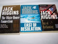 3 Jack Higgins First Printings Paperbacks East of Desolation Day of Reckoning +
