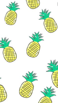 Imagem de pineapple, wallpaper, and background Summer Wallpaper, Cool Wallpaper, Pattern Wallpaper, Cute Pineapple Wallpaper, Watermelon Wallpaper, Cute Backgrounds, Phone Backgrounds, Wallpaper Backgrounds, Wallpaper Quotes