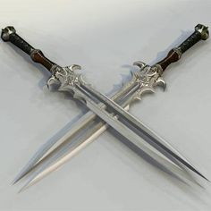 My weapon. I can put the two ends together and have a double sided sword. I can also take the two ends apart and have two swords. -Emerald