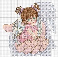 Girl in God's hand (counted cross stitch)