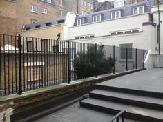 RSG4200 railings fitted to a residential area in London.