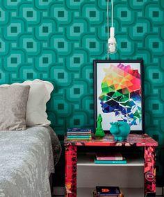 ausgefallene tapeten palmen schlafzimmer  Wandgestaltung ...