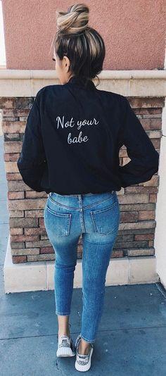 street style addict bomber jacket + skinnies