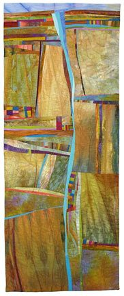 """Of the Earth"" quilt by Jean Wells. Just love Jean's quilts Map Quilt, Quilt Art, Quilting Classes, Art Quilting, Textile Fiber Art, Landscape Quilts, Contemporary Quilts, Textiles, Map Art"