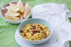 Cous cous con Ras-el-Hanout y pasas -  Cous cous with Ras-el-Hanout and raisins