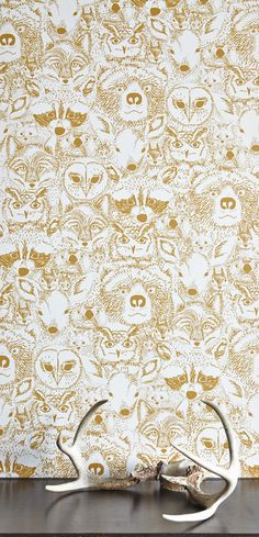 Into the Wild Wallpaper. Sarah Watson design by Chasing Paper Her Wallpaper, Temporary Wallpaper, Kids Room Wallpaper, Animal Wallpaper, Renters Wallpaper, Quirky Wallpaper, Children Wallpaper, Remove Wallpaper, Wildlife Wallpaper
