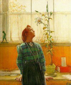 Carl Larsson ~ Lisbeth och Liljan