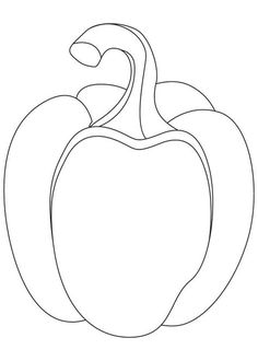 Bell pepper coloring pages Vegetable Coloring Pages, Fruit Coloring Pages, Coloring Book Pages, Coloring Pages For Kids, Coloring Sheets, Drawing Lessons For Kids, Art Drawings For Kids, Colorful Drawings, Bell Pepper Colors