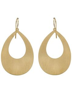 Rose gold hoop earrings from Irene Neuwirth featuring a french hook closure.