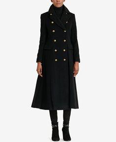 417d2f8a11f Ralph Lauren Coats, Military Style Coats, Maxi Coat, Black Wardrobe,  Cashmere Wool, Double Breasted Coat, Military Fashion, Outerwear Women, Wool  Coat