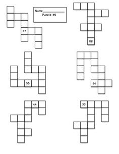 My students loved doing these puzzles to practice ten more and ten less.  This is a partial hundreds chart puzzle with missing numbers.  Students need to finish the puzzle by using one more, one less and ten more, ten less strategies.