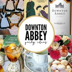 Are you a fan of Downton Abbey? Then you'll LOVE these Downton Abbey Party Ideas - perfect for your next premiere or viewing party!