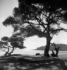 Vouliagmeni, Photo by Petros Brousalis Benaki Museum Photographic Archives Benaki Museum, Greece History, Photomontage, Black And White Photography, Old World, Old Photos, Photo Art, Past, Sunset