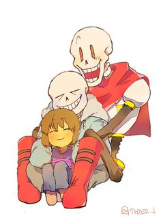 sans papyrus and frisk